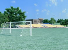 Stadium. Marfino. Fedoskino. Moskaw Region.